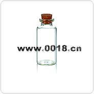 glass bottle with cork